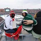 A boisterous crowd of 50,246 enjoyed relatively comfortable 36-degree weather and a romp by the hometown Wild.