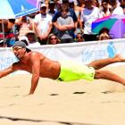 Sean Rosenthal lays flat out for a dig….One of 60 for him.