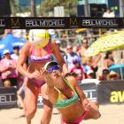 Christal Engle, shown here digging, and partner Sarah Day ended up in the seventh spot.