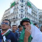Algerian fans watch their team's World Cup soccer match with Belgium.