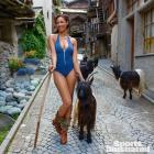 Ariel Meredith and goats :: Yu Tsai/SI