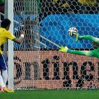 Neymar scores his second goal, this one from the penalty spot.