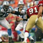 The Panthers were coming off a Super Bowl appearance but had started the season 1-7. They fell behind the 49ers by 17, but Jake Delhomme led the comeback by throwing for 303 yards and three touchdowns. The win helped jumpstart the Panthers to a 6-2 finish. It also matched the team's comeback in the 2003 season opener, when three Delhomme touchdowns led it past Jacksonville.