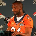 Champ Bailey signed a ceremonial one-day contract with Denver on Nov. 18 so that he could retire as a Bronco. The 36-year-old defender had a record dozen Pro Bowl selections as a cornerback in his career and had more interceptions (52) than any active player in the 2014 season.