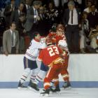 """One of the most famous NHL incidents occurred during the 1986 Stanley Cup Final when Canadiens agitator Claude Lemieux (left) got into a scrap with Calgary's Jim Peplinski. Lemieux scratched at Peplinski's eyes and the bit the Flames' forward's finger to the bone. """"I was skating to the penalty box and showed the bloody finger to (referee) Denis Morel,"""" Peplinski later recalled to the Toronto Globe and Mail . """"He said, 'How do I know you didn't do it to yourself?'"""" Peplinski got a tetanus shot and remarked, """"I didn't know they allowed cannibalism in the NHL."""" Here's the video of the incident ."""