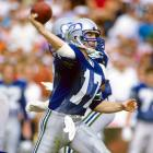 Krieg, a name that became synonymous with the Seahawks franchise in the 1980's and early 1990's, played 12 years in Seattle as a quarterback. He debuted in 1981, but did not receive serious playing time until 1983, when he started half of the team's games and led the Seahawks to their first playoff appearance. Seattle actually made it all the way to the AFC Championship before falling to the Raiders. Krieg became a full-time starter in 1984 and led Seattle to a 12-4 record and a second-straight playoff berth. A three-time Pro Bowl pick in 12 years with Seattle, Krieg threw 195 touchdowns, the most in franchise history.