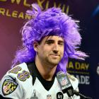 "To Ravens tight end Dennis Pitta: ""On a scale of 1 to 10, how ticklish are you?"" Pitta's answer: ""I'm probably a five or six. You know, moderately ticklish. Good question."""