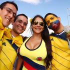 Colombia fans enjoy the atmosphere prior to the Group C match between Colombia and Greece at Estadio Mineirao on June 14.