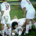 "In 2001, Sevilla midfielder Francisco Gallardo celebrated a goal by teammate Jose Antonio Reyes by biting on Reyes' genitals. Gallardo was fined and suspended for the celebration by the Royal Spanish Football Federation, which said the move violated standards of ""sporting dignity and decorum."""