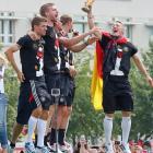 Thomas Mueller, Per Mertesacker, Manuel Neuer and Bastian Schweinsteiger