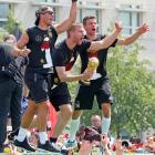 Lukas Podolski, Per Mertesacker and Thomas Mueller