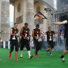 Lukas Podolski, Ron-Robert Zieler, Jerome Boateng, Sami Khedira, Mesut Oezil and Per Mertesacker.