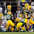 In his last start in place of Aaron Rodgers, Matt Flynn threw four touchdown passes in the second half, Eddie Lacy had the winning score on a 1-yard plunge after an interception by Tony Romo gave them one more chance, and the Packers matched the biggest comeback in franchise history (down 23 points) in a 37-36 win over the Cowboys.  Green Bay also came back from a 23-point deficit against the Rams in 1982.