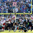 Blake Bortles notched his first game-winning drive and the defense scored twice in the same game for the first time as the Jaguars managed their largest comeback ever, rallying from a 21-point deficit to beat the Giants 25-24 for their second victory of the season.  Bortles completed four passes and used two keepers to put Jacksonville in field-goal range in the final minute, and Josh Scobee kicked a 43-yard field goal with 28 seconds remaining that turned out to be the difference.