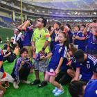 The gathering of Japan's supporters in the Tokyo Dome express their disappointment during their team's 2-1 loss to the Ivory Coast.