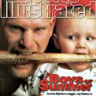 Mariners rightfielder Jay Buhner and son Chase share a bat while appearing on a 1996 SI cover.