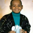 Lebron went with a stuffed elephant over a basketball for this portrait.