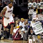 When LeBron returned to Cleveland, the Heat were 11-8. When James landed in Cleveland, he fully expected the outpouring of vitriol he would receive from the 20,000 people at Quicken Loans Arena, the lusty boos and obscene chants, the Quitness signs and LeBum T-shirts. What he couldn't expect was the outpouring of support he would receive from the 14 people in his locker room. The Heat blasted the Cavaliers that night, 118-90, galvanized behind their vilified teammate. They didn't know James well back then, but they cared about him enough to treat his homecoming as their own, and ensure it didn't turn into a roast. James scored 38 points, Dwyane Wade added 22, Chris Bosh 15, and three transcendent talents merged into one. The Heat won 19 of their next 20 games.