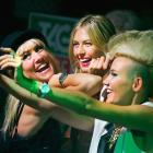 Maria Sharapova poses for a selfie with Miriam Nervo and Olivia Nervo before the Australian Open.