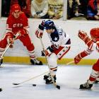"""The ingredients for heroism were all there: the fierce U.S.-Soviet rivalry at a fevered pitch on the world stage as well as the ice, the impassioned crowd singing """"God Bless America,"""" and a squad of talented, gritty college kids and amateurs matching the world's best hockey team goal for goal. So it was only fitting that the captain of America's Miracle team would be the one to tally the decisive goal in the now legendary event. Nearly cut by coach Herb Brooks before the tournament, Eruzione, 25, snapped a 3-3 tie in the middle of the third period by cashing in a feed from Mark Pavelich. The former Boston University/IHL forward later turned down offers from NHL teams, concluding his playing career with the gold medal and a common man mystique that has long since vanished from the Olympics."""