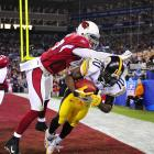 Super Bowl XLIII, Feb. 1, 2009 | Steelers WR Santonio Holmes's leaping touchdown grab with 42 seconds remaining gave Pittsburgh a 27-23 win over the Arizona Cardinals.