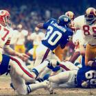 In a game of runs, Washington scored 27 straight points to take a 33-14 lead. But Ron Johnson ran for two touchdowns and Fran Tarkenton hit Tucker Frederickson for a 57-yard score as New York won 35-33. It was the franchise's biggest comeback in the Super Bowl Era.