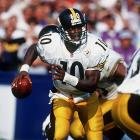 Kordell Stewart had a breakthrough game a week earlier when he ran for 117 yards and showed off an improved throwing motion. His strong play continued against the Ravens when he ran for two touchdowns and threw for three others as the Steelers overcame a 21-0 deficit.