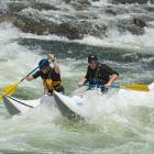 Raft-cross, one of the four types of events at the Payette River Games.