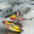 Canadian Nick Troutman carves his way through the water.