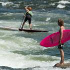 The clash of the surf cultures at the 2014 Payette River Games.