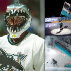 Since the San Jose Sharks made their National Hockey League debut in the 1991-92 season, their cutting-edge logo depicting a shark chomping a hockey stick in half has become one of the most recognized marks in professional sports. Goalie Brian Hayward was in net for the Sharks when they won their first NHL regular season game on Oct. 8, 1991. However, he is better known for his mask, looking as though he is peering out from the jaws of a great white.