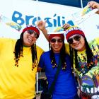 Ecuador fans hold their match tickets outside of the National Stadium, ahead of their opening game of the 2014 FIFA World Cup against Switzerland on June 12 in Brasilia, Brazil.