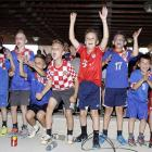 Children in Eastlake, Ohio, cheer for Croatia as they watch the match between Croatia and Brazil at the Croatia Cleveland Soccer Club Thursday, June 12.