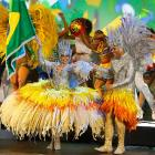 Artists perform during the opening ceremony of the 64th FIFA Congress at the Expocenter Transamerica on June 10 in Sao Paulo.