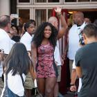 """Serena Williams attends Nike's """"NYC Street Tennis"""" event in August 2015."""