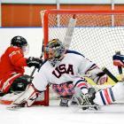 Steve Cash: U.S. Paralympic sled hockey goalie