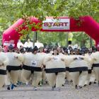 A big field with inflated hopes at London's Battersea Park.