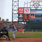 The San Francisco Giants' Tim Lincecum throws the final pitch of his no-hitter against the San Diego Padres at AT&T Park in San Francisco. Lincecum has now thrown two no-hitters, and both have come against the Padres.