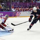 """One of the last additions to the American roster, the St. Louis Blues forward turned in one of the most clutch performances in hockey history. Six times, Oshie was sent to center ice with a thrilling game between Team USA and Russia on the line. And four times he lit the lamp behind Sergei Bobrovsky, the NHL's 2013 Vezina Trophy winner, including that final dagger through the five-hole in the eighth round of the shootout to seal a 3-2 win. """"I've never seen anything like it,"""" said teammate Ryan McDonagh. """"That was amazing."""""""