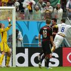 This header by Clint Dempsey was one of the few times the U.S. came close to scoring against Germany.