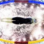 Maria Atashkina of Russia swims the Women's 100-meter breaststroke on August 19 during the 32nd LEN European Swimming Championships.