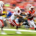 Wisconsin running back Montee Ball speeds past Nebraska's defenders on his way to a touchdown in the Big Ten Championship.