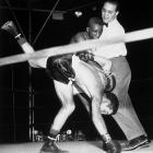 Pep and Saddler waged a classic four-fight rivalry for the featherweight title between 1948 and 1951, with Saddler winning three. The matchups grew incresingly hostile, with the fourth descending into such a foul-filled melee that both fighters were suspended from the sport.