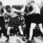 """Ketchel, known as """"The Michigan Assassin,"""" defended his middleweight title with a points win over Billy Papke. Papke stopped him in the rematch to win the title, with Ketchel winning it back on a knockout in an immediate rematch. They later fought a fourth time, with Ketchel winning a slugfest to defend his title once more."""