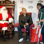 After asking Santa for some new crutches, the hobbled star graciously hosted the Turn 2 Holiday Express at Yankee Stadium.