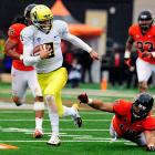 On an offense loaded with playmakers, Mariota is arguably Oregon's most dynamic talent. The Honolulu native paced Chip Kelly's attack with 34 total touchdowns, including four touchdown passes in a shootout win over USC.