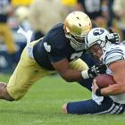 Manti Te'o gets the lion's share of the credit on Notre Dame's defense, but Tuitt deserves some recognition of his own. The massive sophomore bulldozed his way to a team-high 12 sacks and was also a scoring threat: Tuitt returned a fumble 77 yards for a touchdown in the Irish's season-opening win over Navy.