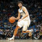 Although he was drafted in 2009, Spanish point guard Ricky Rubio waited until the 2011-12 season before he decided he was ready to make his NBA debut. He did not disappoint, recording assist after assist with his highlight-worthy passes. He was averaging 8.2 assists and 10.6 points before being sidelined with a season-ending injury.