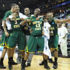 In one of the biggest upsets in NCAA Tournament history, Norfolk State hurt just about everybody's bracket when the 15th-seed Spartans upset second-seed Missouri. Entering the game having gone 0-14 in Tournament history, Norfolk State defeated Missouri, 86-84, after Missouri's last-second three-point shot missed.