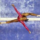 Gabby Douglas received a 14.9 on balance beam at the U.S. Olympic trials. She showed significant improvement from her performance during worlds earlier this year when she fell from the beam, which cost her the title.